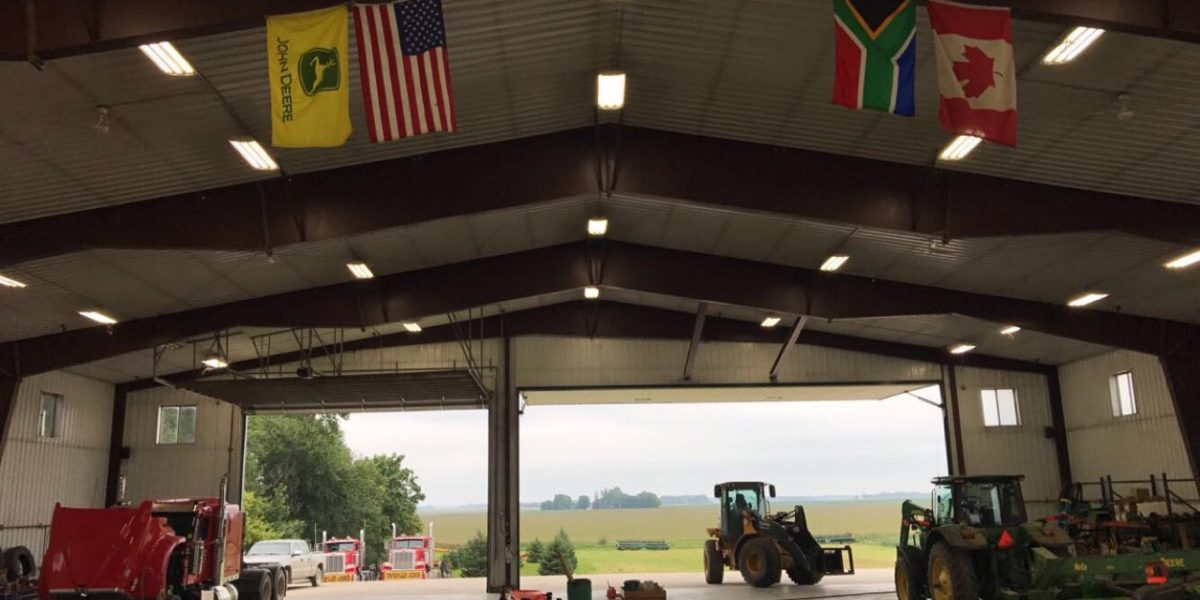 The shop at Olsen Custom Farms
